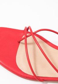 NA-KD - FLAT STRAP  - T-bar sandals - red - 2