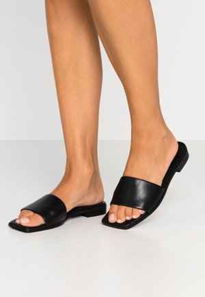 SQUARED FLATS - Mules - black