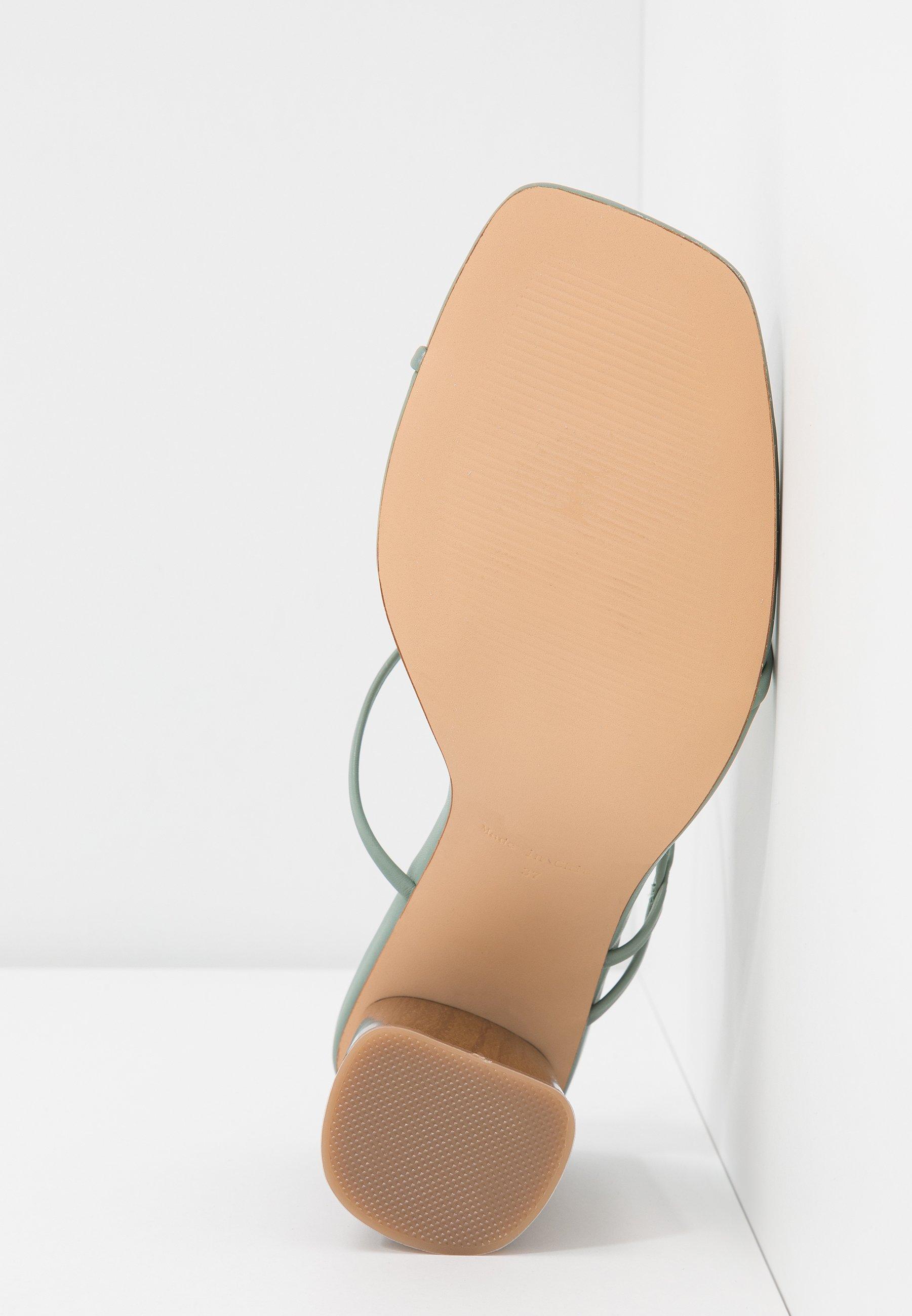 Na-kd Fine Strappy Block Heel - Tongs Pastel Green