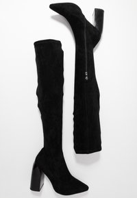 NA-KD - TIGHT SHAFT BLOCK BOOTS - Kozaki na obcasie - black - 3