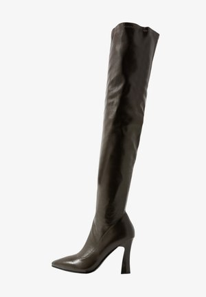 GRAPHIC BOOTS - Laarzen met hoge hak - dark green
