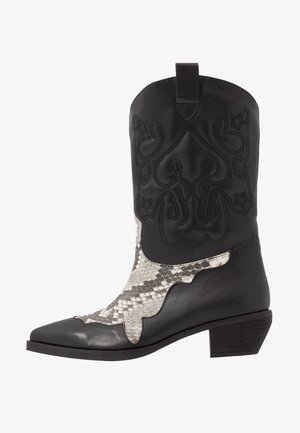 REPTILE DETAILED  - Cowboy/Biker boots - black
