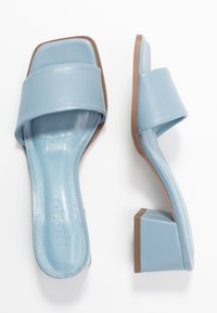 NA-KD - BASIC BLOCK HEELED MULES - Pantofle na podpatku - blue - 3