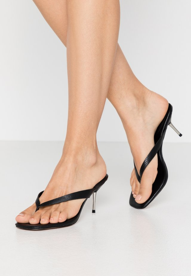 TOE STRAP HEEL  - T-bar sandals - black