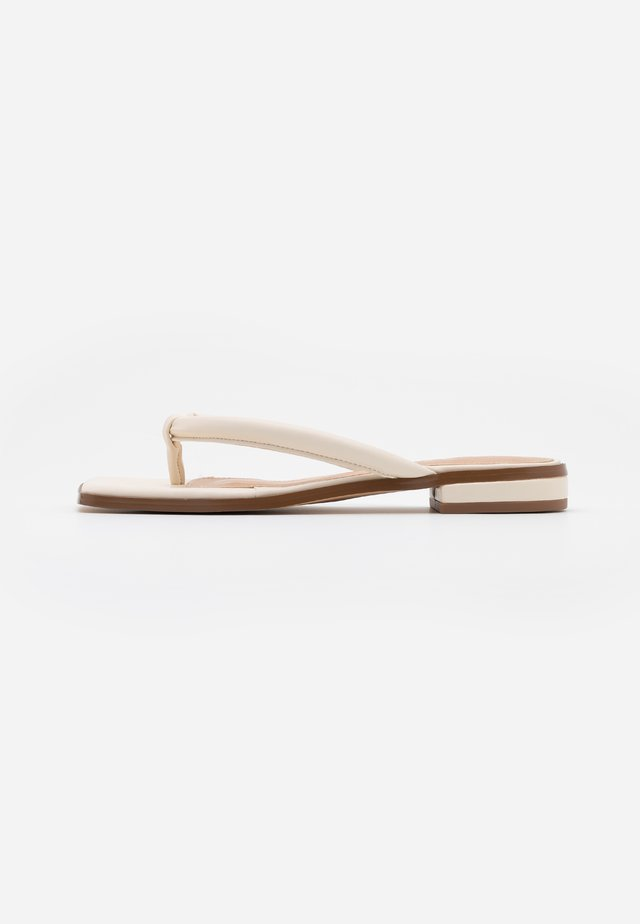 PADDED STRAP - T-bar sandals - cream