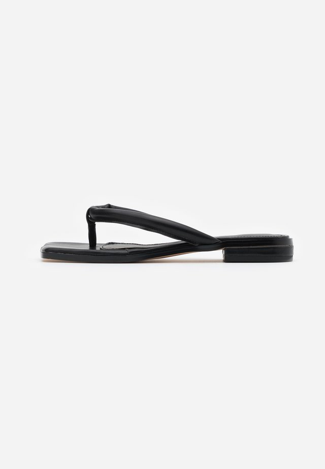 PADDED STRAP - T-bar sandals - black