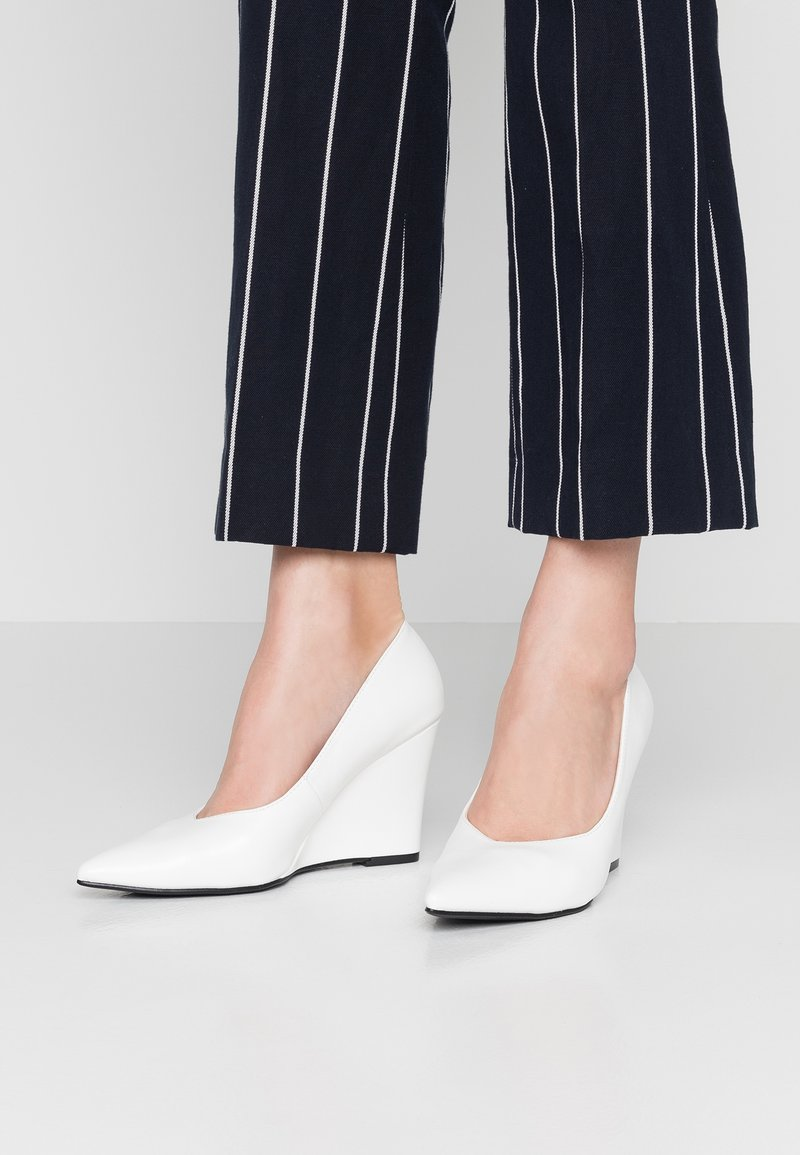 NA-KD - WEDGE - High heels - white