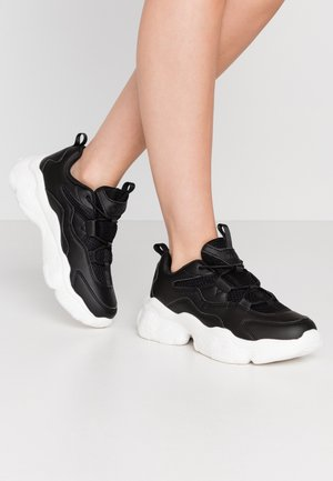 LOOP LACING STRUCTURED TRAINERS - Trainers - black