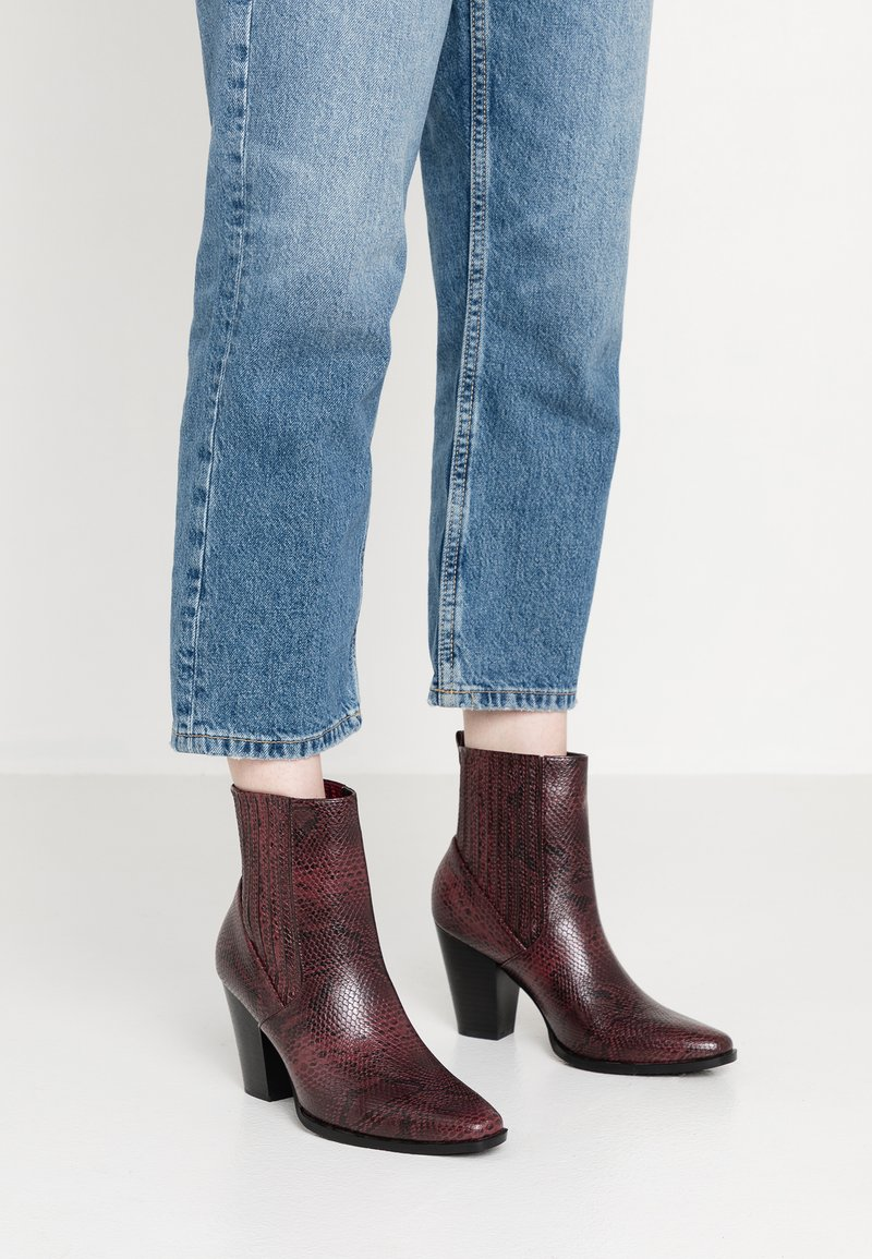 NA-KD - High heeled ankle boots - red