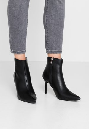 POINTY STILETTO - High heeled ankle boots - black