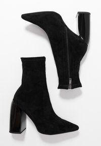 NA-KD - TIGHT SHAFT BLOCK BOOTIES - High heeled ankle boots - black - 3