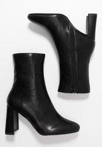 NA-KD - ANGULAR HEEL BOOTIES - High heeled ankle boots - black - 3