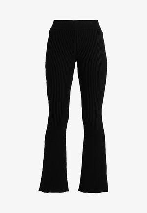 CAMILLE PANTS - Kalhoty - black