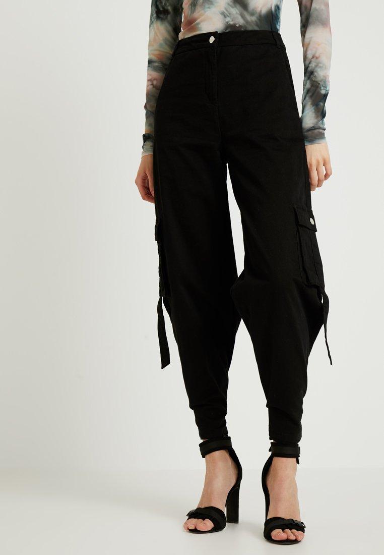 NA-KD - IVANA SANTA CRUZ PANTS - Pantaloni - black