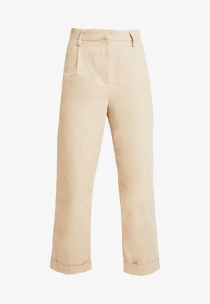 TINA MARIA STRAIGHT CARGO PANTS - Trousers - beige