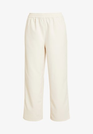 EMILIE BRITING ELASTIC WAISTSEAM CROPPED PANTS - Spodnie materiałowe - off white