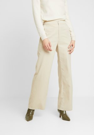 PAULINYE WIDE LEG SUIT PANTS - Broek - beige