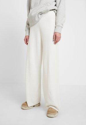 LOUNGE WIDE LEG PANTS - Kangashousut - off white