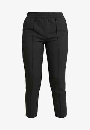 ELASTIC WAIST SEAMLINE PANTS - Pantaloni - black