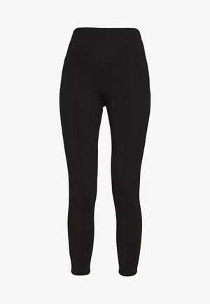 FRONT SEAM PANTS - Legíny - black