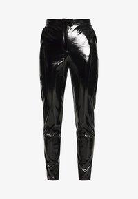 NA-KD - PATENT PANTS - Bukse - black - 3