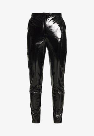 PATENT PANTS - Kalhoty - black