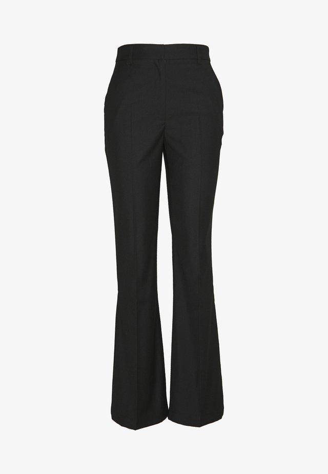 WIDE CUFF PANTS - Bukser - black