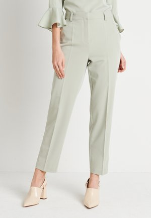 ZALANDO X NA-KD STRAIGHT SUIT PANTS - Trousers - dusty green