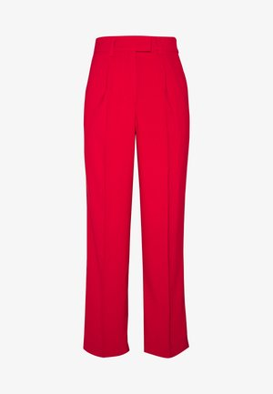 STRAIGHT PLEATED PANTS - Trousers - red
