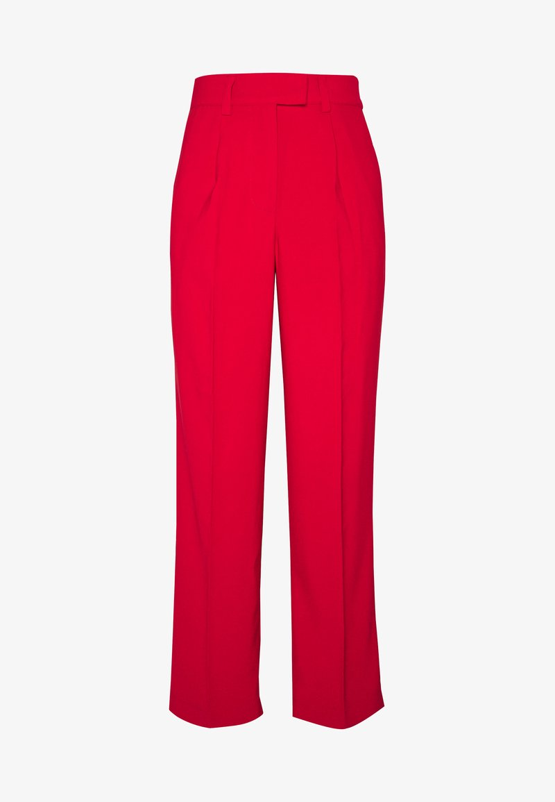 NA-KD - STRAIGHT PLEATED PANTS - Pantalones - red