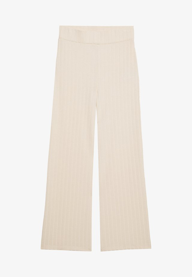 HIGH WAIST PANTS - Kangashousut - beige