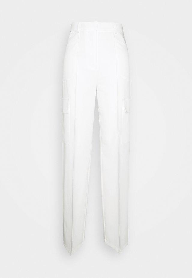 HOSS - Kangashousut - white
