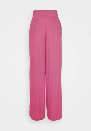WIDE FLOWY PANTS - Trousers - pink