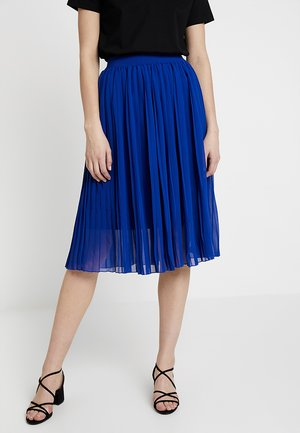 MIDI PLEATED SKIRT - Spódnica trapezowa - blue