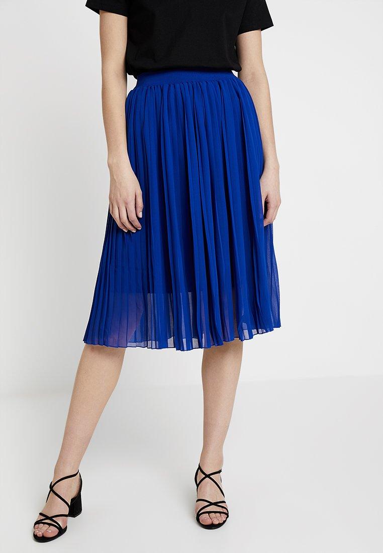 NA-KD - MIDI PLEATED SKIRT - A-line skirt - blue