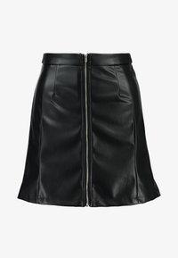 NA-KD - HOSS HIGH WAIS ZIPPED SKIRT - A-line skirt - black - 4