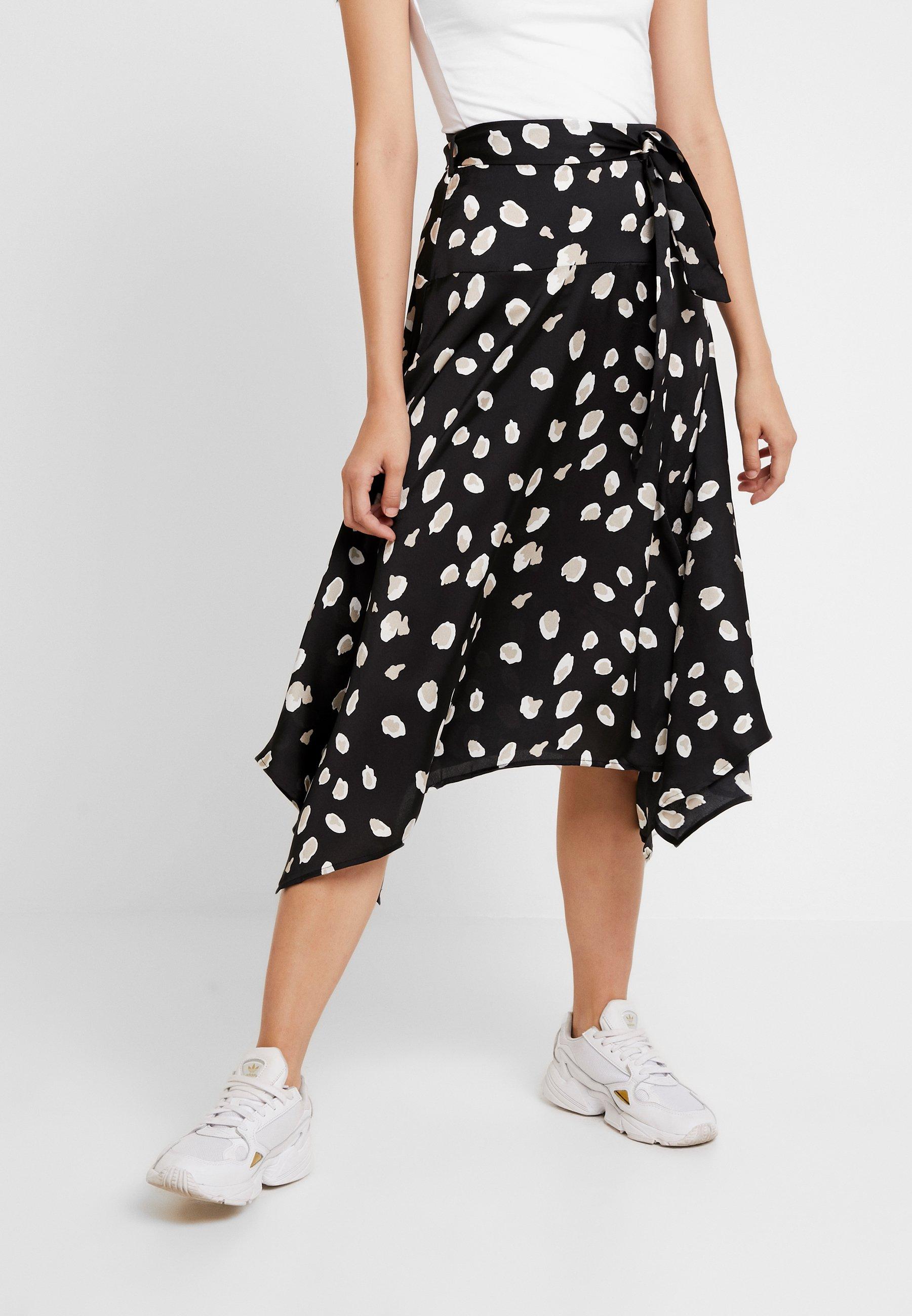 Black SkirtJupe kd Frill Dot Na Trapèze 3jqcLAR54S