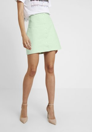 QUEEN OF JETLAGS FRONT BUTTON SKIRT - Falda acampanada - dusty light green