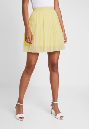 PLEATED SKIRT - A-line skirt - pale yellow