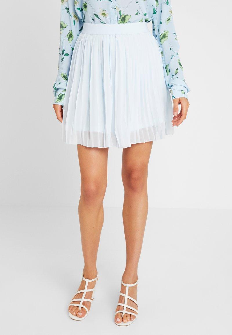 NA-KD - PLEATED SKIRT - A-line skirt - pale blue