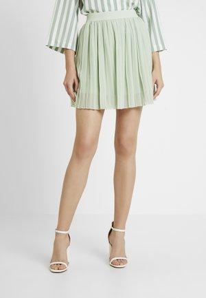 PLEATED SKIRT - A-line skirt - green