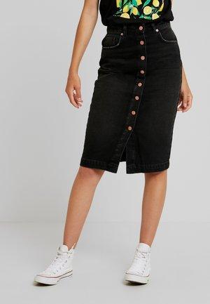 BUTTON UP SKIRT - Falda de tubo - washed black