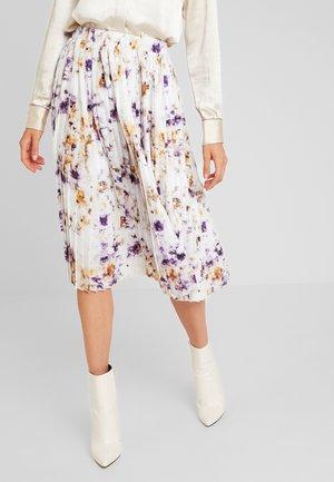 TIE DYE PLEATED MIDI SKIRT - A-line skirt - off-white