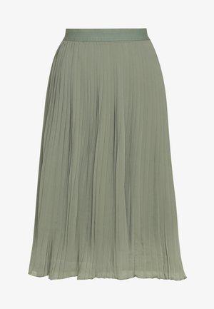 PLEATED SKIRT - A-line skjørt - khaki green