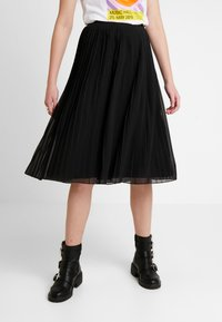 NA-KD - PLEATED SKIRT - A-line skjørt - black - 0