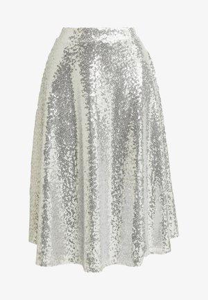 ZALANDO X NA-KD - A-snit nederdel/ A-formede nederdele - silver
