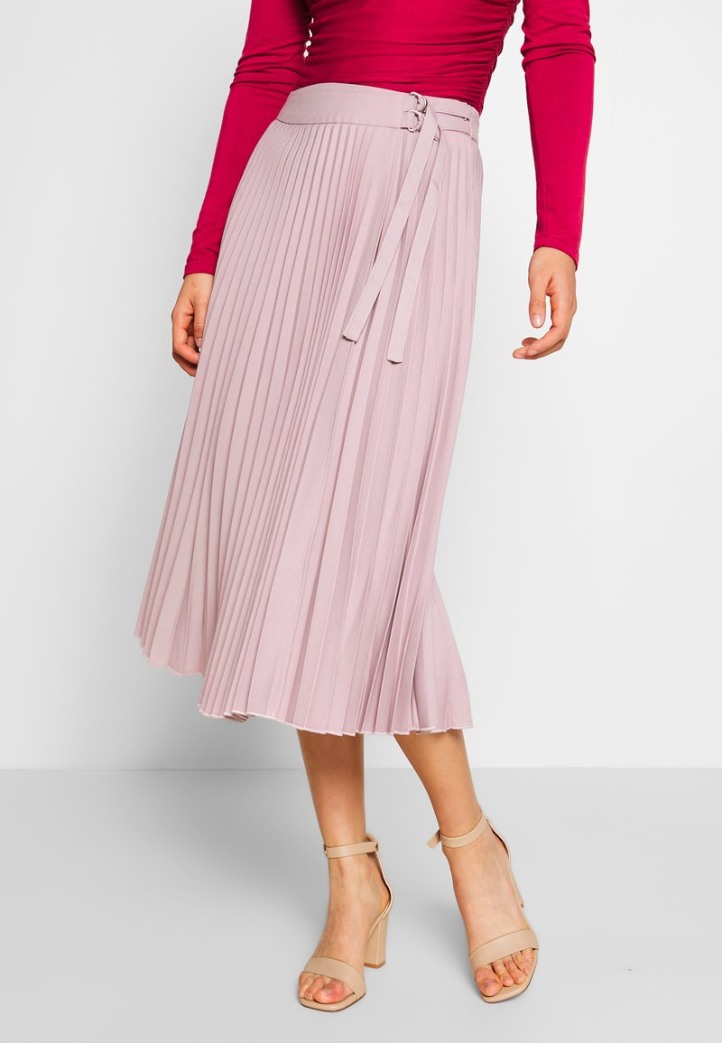 NA-KD - BELTED PLEATED SKIRT - A-line skjørt - lilac