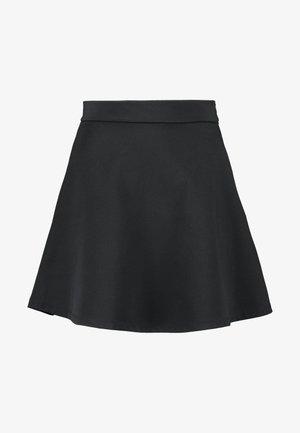Pamela Reif x NA-KD HIGH WAIST SKATER MINI SKIRT - Spódnica trapezowa - black