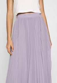 NA-KD - ANKLE LENGTH PLEATED SKIRT - Áčková sukně - purple - 4