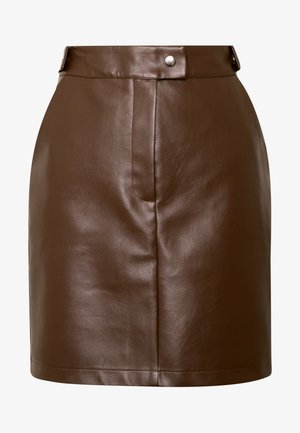 Misslisibell x NA-KD - A-line skirt - cocoa